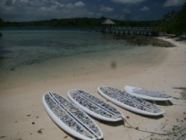 Eratap beach island resort has the perfect locations also to practice stand up paddle boarding.
