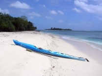 When in Eratap island a visit to the offshore islands via a kayak is a must do.