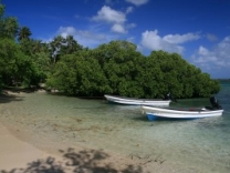 Eratap resort has two 5 metre fibreglass longboats for guests to use free of charge.