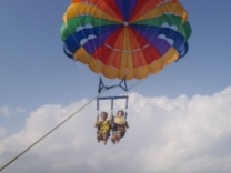 at Eratap beach Island resort you can also do parasailing around Efate Island
