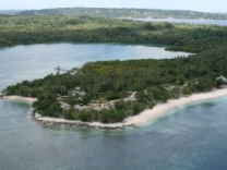 aerial view of the Eratap Beach Resort in Vanuatu